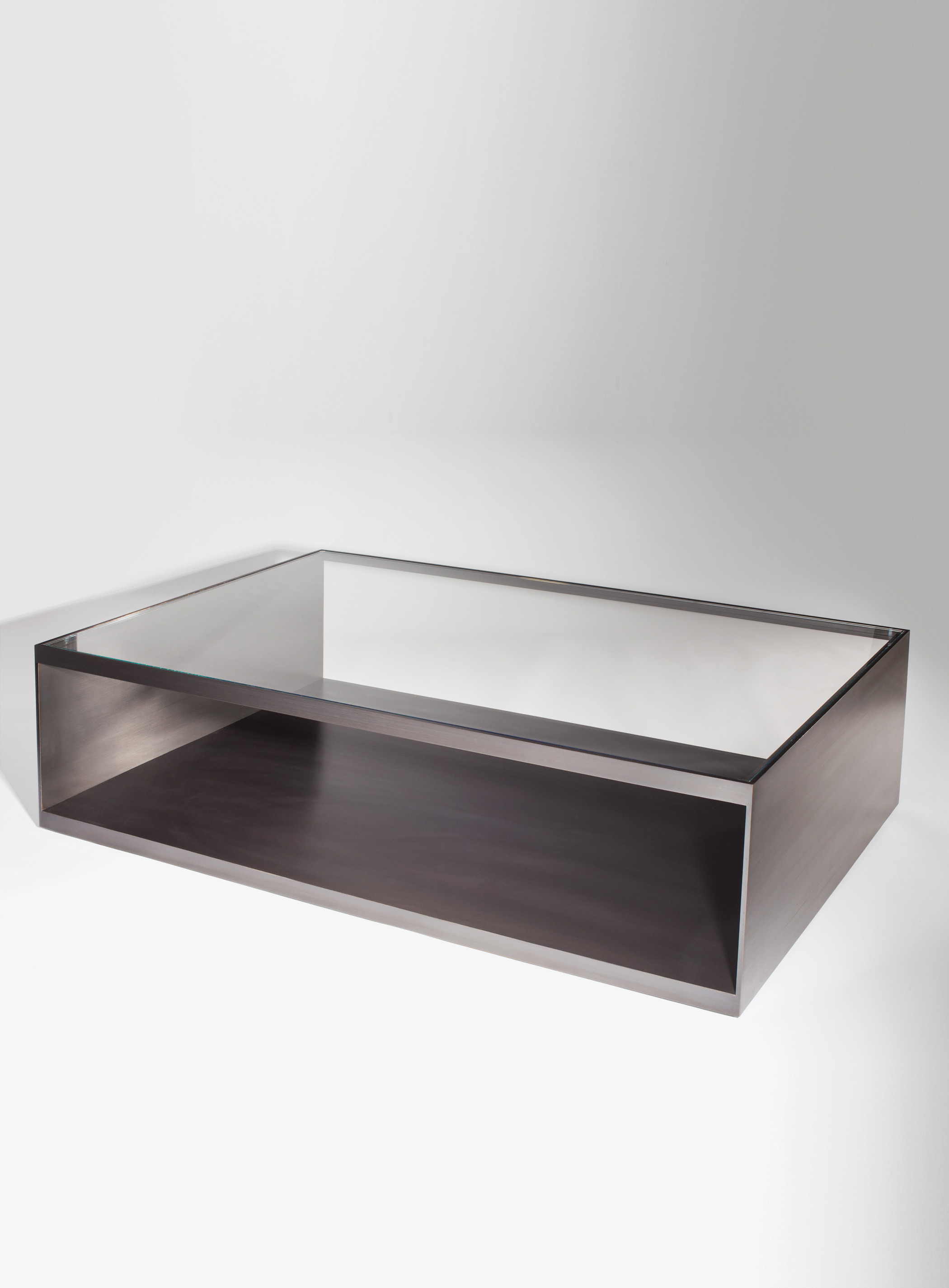 Contemporary Cappuccino Connect It Computer: Glass House Coffee Table